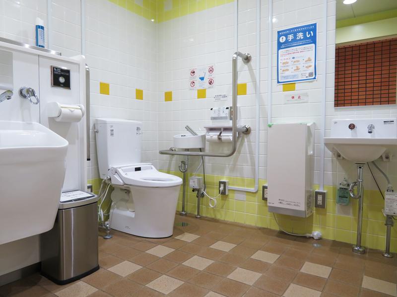 オストメイト対応トイレの内装