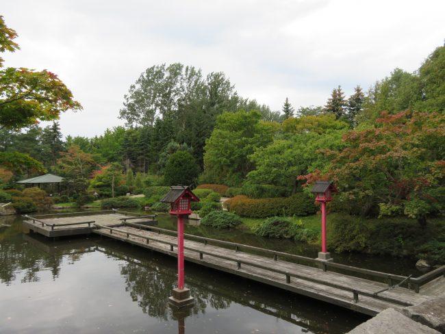 色づき始めた日本庭園